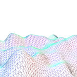 Abstract Earth landscape of colored grid. Abstract Earth landscape of colored mesh grid Royalty Free Stock Photography