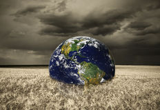 Abstract earth in storm field Royalty Free Stock Images