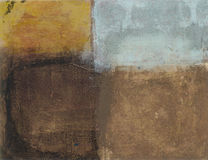 Abstract Earth Tones. Abstract painting of 4 different earth tones; sun, sky, earth, and shadow stock illustration