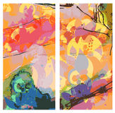 Abstract east banners vertical watercolor style Royalty Free Stock Image