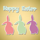 Abstract Easter background. Abstract card with Easter Bunnys -  illustration Stock Photography