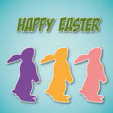 Abstract Easter background. Abstract card with Easter Bunnys - illustration stock illustration