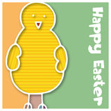 Abstract easter background. Abstract background with Easter Chick - illustration stock illustration