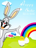Abstract easter background with bunny Royalty Free Stock Image