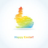 Abstract easter card with cute bunny Stock Photos