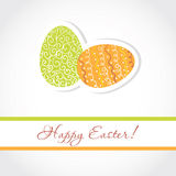 Abstract easter card with cute eggs Royalty Free Stock Photos