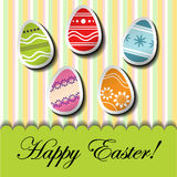 Abstract Easter card Royalty Free Stock Photo