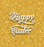 Abstract Easter Card with Hand Written Phrase Stock Images
