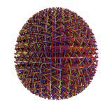 Abstract Easter egg. An 3D render of a Easter egg royalty free illustration