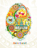 Abstract Easter egg background Royalty Free Stock Photo