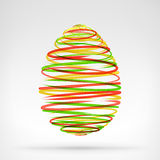Abstract easter egg graphics designed as three color circle composition. Vector illustration on white background Stock Photo