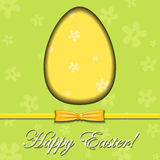 Abstract Easter egg greeting card Royalty Free Stock Image
