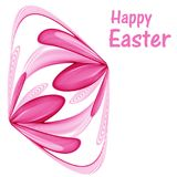 Abstract Easter egg made from pink abstract flowers. On a white background Royalty Free Stock Photo