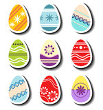 Abstract Easter egg sticker set Royalty Free Stock Photos