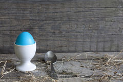 Abstract easter egg on vintage wooden table Royalty Free Stock Images