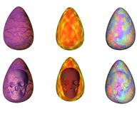 Abstract Easter Eggs. With and without a skull Royalty Free Stock Photos