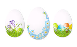 Abstract easter eggs. On white background,  illustration Royalty Free Stock Photo