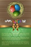 Abstract of Easter eggs. Banner and Background Template. Vector and Illustration, EPS 10 Royalty Free Stock Images
