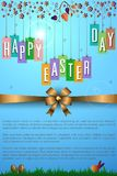 Abstract of Easter eggs. Banner and Background Template. Vector and Illustration, EPS 10 Stock Images