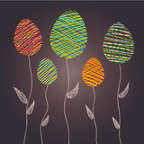 Abstract Easter eggs as a flower plants, vector illustration. EPS 10 Royalty Free Stock Image