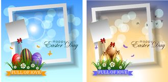 Abstract of Easter eggs. Banner and Background Template. Vector and Illustration, EPS 10 Royalty Free Stock Photos