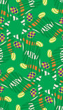 Abstract Easter Eggs in Grass Pattern. Abstract Easter Eggs in grass seamless background pattern vector illustration