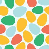 Abstract easter eggs seamless pattern. Vector easter eggs seamless pattern background vector Royalty Free Stock Photo