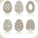 Abstract Easter eggs set Royalty Free Stock Photos