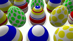 Abstract Easter eggs on white stock video footage