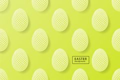 Abstract easter green background with black frame for text. Crea. Tive 3D eggs with pattern. Vector illustration vector illustration