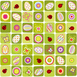 Abstract Easter holiday seamless pattern Stock Image