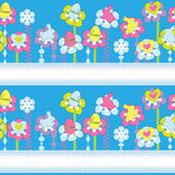 Abstract Easter seamless background Stock Images