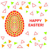 Abstract Easter triangles pattern. Stock Photos