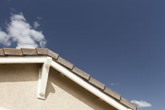 Abstract of Eaves on a New Home Construction Stock Photos