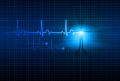 Abstract ECG. Abstract Medical background. ECG. Illustration for design Stock Image