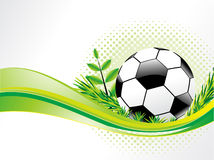 Abstract eco background with football. Vector illustration Stock Image