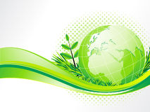 Abstract eco background with globe. Vector illustration Royalty Free Stock Photos