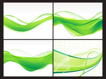 Abstract eco background set. Vector illustration Royalty Free Stock Photo