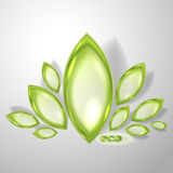 Abstract eco background. With transparent leaves Stock Image