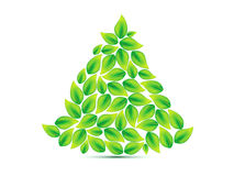 Abstract eco based christmas tree Stock Photos