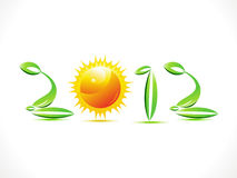 Abstract eco based new year text Stock Photos