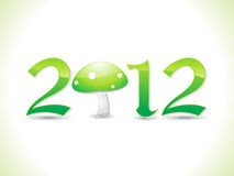 Abstract eco based new year text. Illustration Stock Images