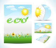 Abstract eco brochure Royalty Free Stock Photography