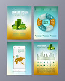 Abstract eco Brochure Flyer design vector template Royalty Free Stock Photo