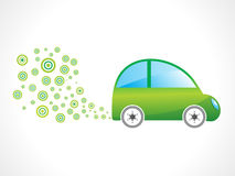 Abstract eco car Royalty Free Stock Image