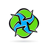 Abstract eco environment recycle icon planet earth concept Stock Photos