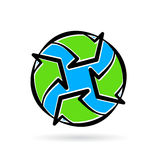 Abstract eco environment recycle icon planet earth concept. Royalty Free Stock Photo