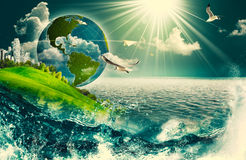 Abstract eco and environmental backgrounds Royalty Free Stock Images