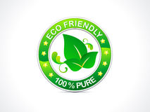 Abstract eco friendly icon Royalty Free Stock Images