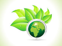 Abstract eco globe background Royalty Free Stock Photo